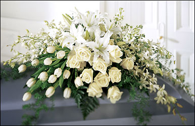 Ressurection Casket Spray from Arthur Pfeil Smart Flowers in San Antonio, TX