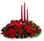 The FTD Lights of the Season Centerpiece from Arthur Pfeil Smart Flowers in San Antonio, TX