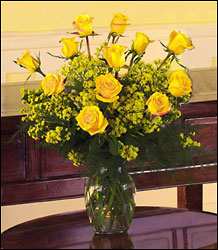 Vibrant Yellow Roses